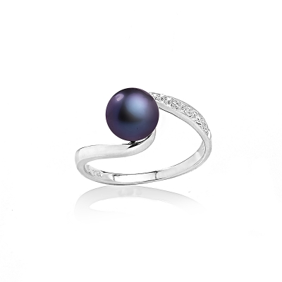 Allegra ring with black pearl. Код 1999